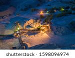 open cast mine at night with... | Shutterstock . vector #1598096974
