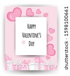 valentine's day card with...   Shutterstock .eps vector #1598100661