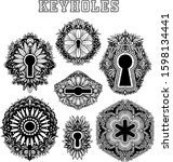 vector black and white keyhole... | Shutterstock .eps vector #1598134441