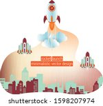 business startup concept with... | Shutterstock .eps vector #1598207974