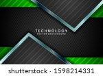 abstract 3d black technology... | Shutterstock .eps vector #1598214331