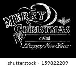 chalkboard vector holiday... | Shutterstock .eps vector #159822209