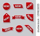 new flat banners | Shutterstock .eps vector #159823055