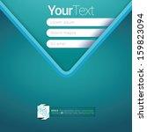 v shape  light blue turquoise...   Shutterstock .eps vector #159823094