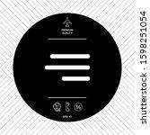 modern hamburger menu icon for...