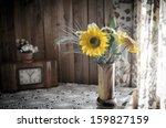 rustic interior still life | Shutterstock . vector #159827159