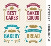 vintage bakery labels  vector... | Shutterstock .eps vector #159831521