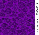 violet seamless vector pattern...   Shutterstock .eps vector #1598349514