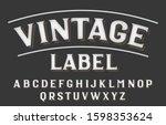 vintage label alphabet font....   Shutterstock .eps vector #1598353624