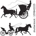 Horse Taxicab Vector...