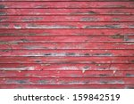 Weathered Red Barn Wall...