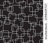 line art rouded squares... | Shutterstock .eps vector #1598439727