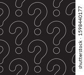 line art question marks... | Shutterstock .eps vector #1598440177
