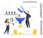 lead conversion vector... | Shutterstock .eps vector #1598467057