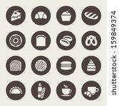 bakery icon set | Shutterstock .eps vector #159849374