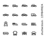 car icon set | Shutterstock .eps vector #159849824