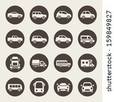 car icon set | Shutterstock .eps vector #159849827