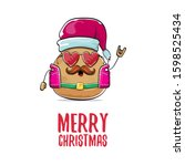 vector rock star santa potato...   Shutterstock .eps vector #1598525434