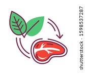 plant based meat color line... | Shutterstock .eps vector #1598537287