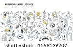 concept of artificial... | Shutterstock .eps vector #1598539207