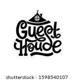 guest house hand drawn... | Shutterstock .eps vector #1598540107
