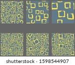 creative seamless pattern.... | Shutterstock .eps vector #1598544907