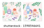 vector bundle of skincare... | Shutterstock .eps vector #1598546641