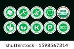 light green icons on a dark... | Shutterstock .eps vector #1598567314