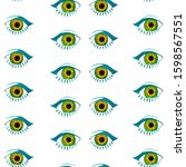 seamless pattern of eyes....   Shutterstock . vector #1598567551