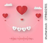 illustration of happy valentine'... | Shutterstock .eps vector #1598602501
