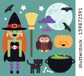 Cute Witch Set For Decoration   ...