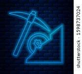 glowing neon line... | Shutterstock . vector #1598737024