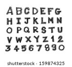 font sketch hand drawing vector ... | Shutterstock .eps vector #159874325