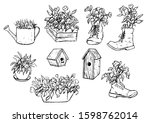 hand drawn vector illustration. ... | Shutterstock .eps vector #1598762014