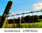 barbed wire fence in english... | Shutterstock . vector #159878261