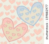 seamless pattern with hearts... | Shutterstock .eps vector #159882977