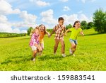 group of little 6 and 7 years... | Shutterstock . vector #159883541
