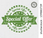 special offer vintage stamp... | Shutterstock .eps vector #159883739