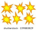 set of few comic explosions...   Shutterstock . vector #159883829