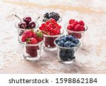 Forest Fruit Berries In Glass...