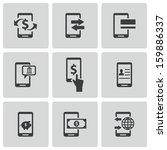 vector black mobile banking... | Shutterstock .eps vector #159886337