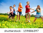 five happy diversity looking... | Shutterstock . vector #159886397