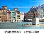 fountain and colorful old... | Shutterstock . vector #159886505