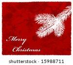 christmas snowflake pine... | Shutterstock . vector #15988711
