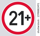 Vector Icon 21 Age Restriction...