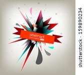 abstract label  with creative... | Shutterstock .eps vector #159890234