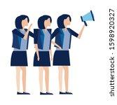 elegant businesswomen workers... | Shutterstock .eps vector #1598920327