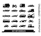 cars icons set. set of vehicles.... | Shutterstock .eps vector #159895961