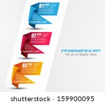 infographic templated with... | Shutterstock . vector #159900095