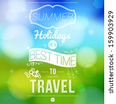 summer holidays poster with... | Shutterstock . vector #159903929
